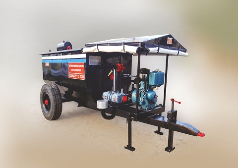 bitumen sprayer with compressor